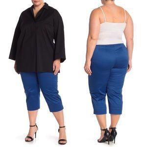 Lafayette 148 Blue Capri Pants Trousers 20W NWT